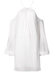 Zac Posen Marianne Dress With Cut Out Shoulders Polyester White