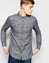 New Look Long Sleeve Shirt In Grey Marl
