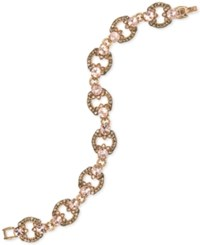 Marchesa Gold Tone Crystal Flex Bracelet