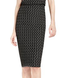 Vince Camuto Cable Knit Pencil Skirt Black