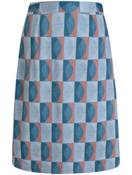 Seasalt Lawhippet Skirt Scraffito Circle Mist