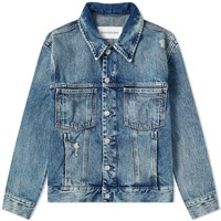Calvin Klein Washed Denim Trucker Jacket Blue