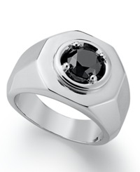 Macy's Men's Black Diamond Ring In Sterling Silver 2 Ct. T.W.