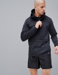 Reebok Training Thermo Warm Half Zip Jacket In Black Cy4913
