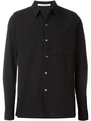 Individual Sentiments Woven One Pocket Shirt Black