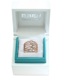 Effy Collection Effy Limited Edition Diamond Bezel Ring 3 4 Ct. T.W. In 14K Rose Gold
