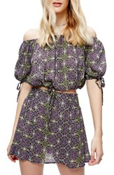 Free People Women's Electric Love Crop Top And Skirt Set
