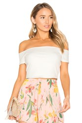 Privacy Please X Revolve Macy Crop Top Ivory