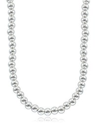 Lord And Taylor Sterling Silver Beaded String Necklace
