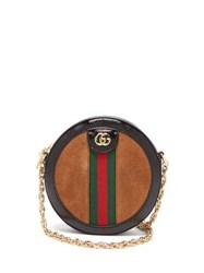 Gucci Ophidia Gg Leather And Suede Cross Body Bag Tan Multi
