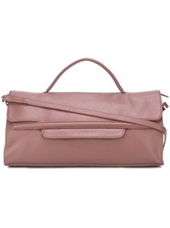 Zanellato Removable Strap Small Tote Pink And Purple