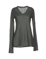 Crossley Topwear T Shirts Women Military Green