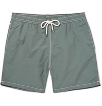 Hartford Mid Length Swim Shorts Gray Green