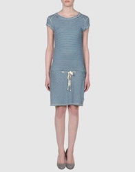 Le Mont St Michel Short Dresses Blue