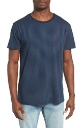 Rvca Men's No Waves Stripe T Shirt
