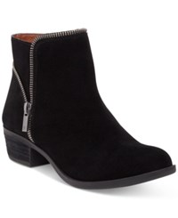 Lucky Brand Women's Boide Zipper Booties Women's Shoes Black