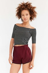 Silence And Noise Silence Noise Vivi Pull On Short Maroon