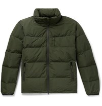 Aspesi Quilted Shell Hooded Down Jacket Army Green