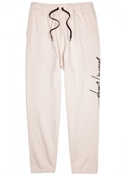 Second Layer Light Pink Embroidered Jersey Jogging Trousers
