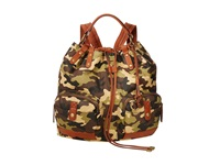 Lucky Brand Carly Waxed Canvas Backpack Army Camo Backpack Bags Green