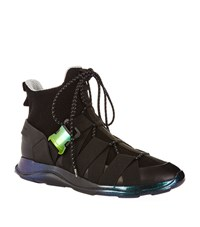 Christopher Kane Buckle Lace Up Sneakers Male Black