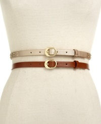 Style And Co. 2 For 1 Studded Belt