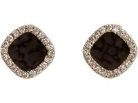 Monique Pean Women's White Diamond And Dinosaur Bone Studs No Color