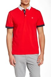 Ag Jeans Green Label Deuce Polo Red
