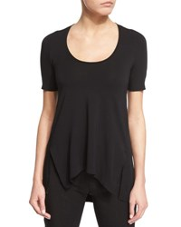 Urban Zen Short Sleeve Scoop Neck Tee Black