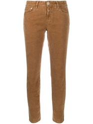 Closed Mid Rise Skinny Jeans Brown