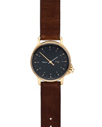 Miansai M12 Swiss Made Watch With Leather Strap Cognac