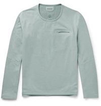 Descente S.I.O Slim Fit Fleece Sweatshirt Gray Green