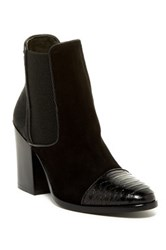 Jo Ghost Genuine Cow Hair Ankle Boot Black