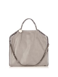 Stella Mccartney Falabella Faux Suede Shoulder Bag Light Grey