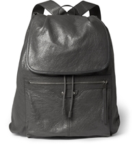 Balenciaga Creased Leather Backpack Gray