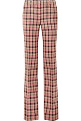 Michael Kors Collection Checked Wool Flared Pants Black
