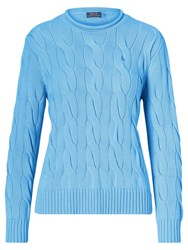 Polo Ralph Lauren Boxy Cable Knit Jumper Brookfield Blue
