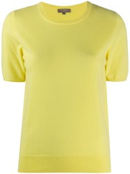 N.Peal Round Neck Cashmere T Shirt Yellow