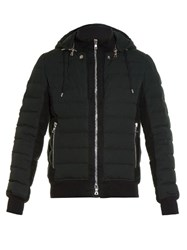 Balmain Detachable Hood Quilted Padded Jacket Black