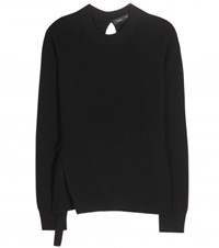 Proenza Schouler Wool Cotton And Cashmere Blend Sweater Black