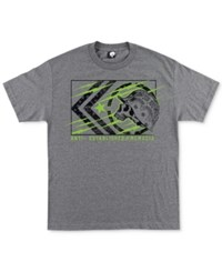 Metal Mulisha Men's Tracker Graphic Print Logo Cotton T Shirt Charcoal Heather