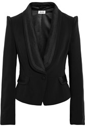 Alice By Temperley Alice Satin Trimmed Stretch Twill Jacket Black