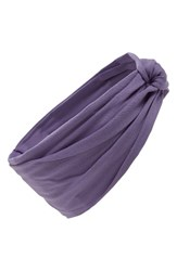 Tasha Turban Head Wrap Purple Bloom
