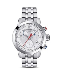 Tissot Nba Prc 200 Stainless Steel Chronograph 34Mm Silver