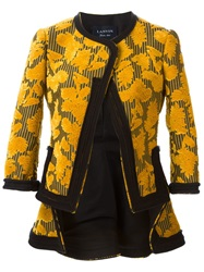 Lanvin Flower Embossed Blazer Yellow And Orange