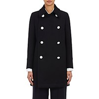 The Reracs Women's Melton Peacoat Navy