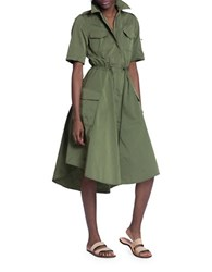 Tracy Reese Military Shirt Dress Kelp