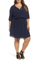 Daniel Rainn Plus Size Women's Silk Blouson Dress