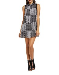 Bcbgeneration Sleeveless Patchwork Tent Dress Black