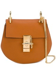Chloe Mini Drew Leather Bag With Gold Tone Hardware Brown
